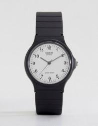 Casio MQ-24-7BLL Analogue Resin Strap Watch - Black