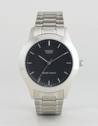Casio MTP1128A-1A silver stainless steel strap watch - Silver