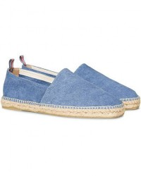 Castañer Pablo Washed Canvas Espadrilles Jeans Claro men 42 Blå