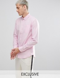 Casual Friday Button Down Collar Shirt With Pocket - Pink