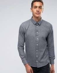 Casual Friday Flannel Shirt In Regular Fit - Navy