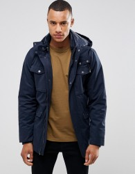 Casual Friday Parka With Removable Hood - Navy