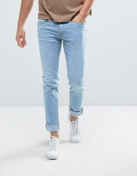 Casual Friday Slim Fit Jeans In Light Wash Blue - Blue