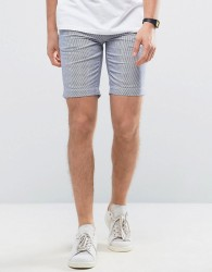 Casual Friday Striped Chino Shorts - Blue