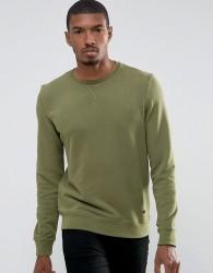 Casual Friday Sweatshirt In Wash - Green