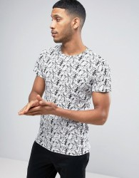 Casual Friday T-Shirt With Scribble Print - White