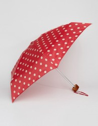 Cath Kidston Tiny 2 Button Spot Cranberry Umbrella - Multi