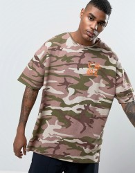 Cayler & Sons Oversized Camo T-Shirt With Back Print - Pink