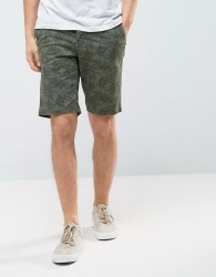 Celio Chino Short with All Over Print - Green