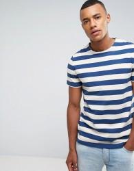 Celio Heavyweight Boxy Fit T-Shirt In Stripe - Beige