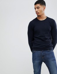 Celio Knitted Jumper In Cashmere Blend - Navy