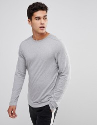 Celio Long Sleeve T-Shirt In Grey - Grey