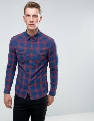 Celio Plaid Flannel Shirt - Red