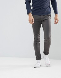 Celio Skinny Chino In Grey - Grey
