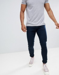 Celio Skinny Fit Chino In Navy - Blue