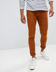 Celio Skinny Fit Chino In Rust - Brown