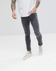 Celio Skinny Fit Jean In Dark Grey - Grey