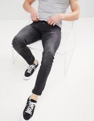 Celio Slim Fit Jeans In Black Wash - Black
