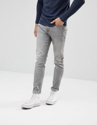 Celio Slim Fit Jeans In Grey Wash - Grey