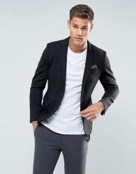 Celio Slim Fit Jersey Blazer In Black - Black