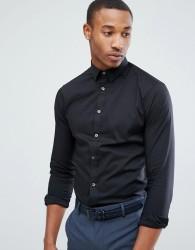 Celio Smart Shirt In Slim Fit - Black