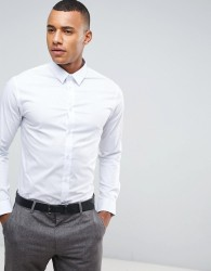Celio Smart Shirt In Slim Fit - White