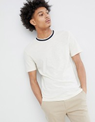 Celio T-Shirt With Contrast Rib - White
