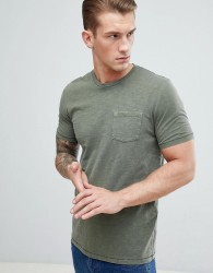 Celio T-Shirt With Pocket In Khaki - Green
