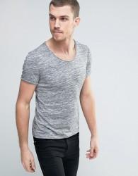 Celio T-Shirt with Scoop Neck - Grey