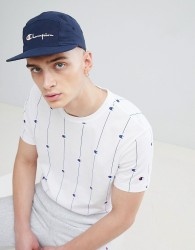 Champion 5 Panel Cap With Logo In Navy - Navy