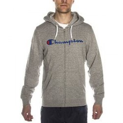 Champion Hooded Full Zip Sweatshirt - Grey - Medium * Kampagne *