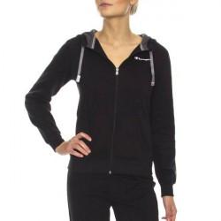 Champion Hooded Full Zip Sweatshirt W - Black * Kampagne *