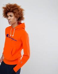 Champion Hoodie With Large Logo In Orange - Orange
