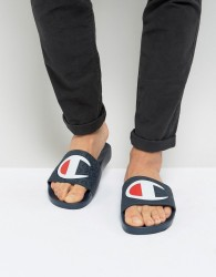 Champion Sliders With Large Logo - Navy