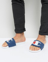 Champion Sliders With Large Logo - White