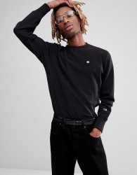 Champion Sweatshirt With Small Logo In Black - Black