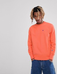 Champion Sweatshirt With Small Logo In Coral - Pink