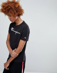 Champion T-Shirt With Large Logo In Black - Black