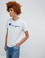 Champion T-Shirt With Large Logo In Grey - Grey
