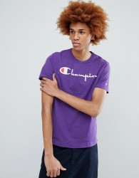 Champion T-Shirt With Large Logo In Purple - Purple