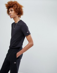 Champion T-Shirt With Small Logo In Black - Black