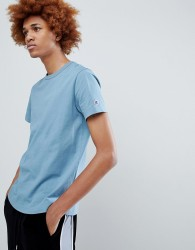 Champion T-Shirt With Small Logo In Blue - Blue