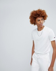 Champion T-Shirt With Small Logo In White - White