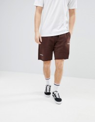 Champion x Wood Wood Desire Track Shorts In Brown - Red