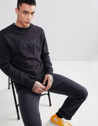 Champion x Wood Wood Noise Sweatshirt In Black - Black