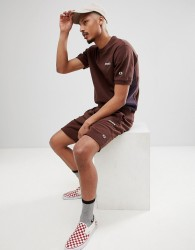 Champion x Wood Wood Short Sleeve Boredom Sweat In Brown - Red