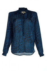Charlotte Sparre - Frill Blouse - Winter Leo - Blue