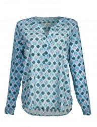 Charlotte Sparre - Langærmet bluse - Flamingo Blue
