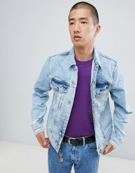 Cheap Monday Legit Denim Jacket In Light Blue - Blue