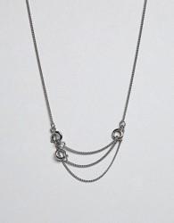 Cheap Monday Lock Necklace - Silver